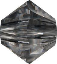 Swarovski Crystal Bicone 5328-4mm - Crystal Silver Night