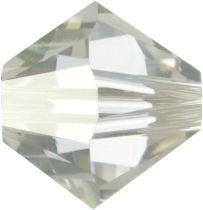 Swarovski  5328 Bicone- 3mm Crystal Silver Shade