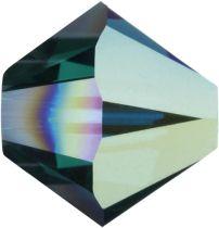 Swarovski  Bicone 5328-4mm - Emerald AB