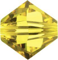 Swarovski Crystal Bicone 5328-4mm-Light Topaz