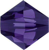 Swarovski  Bicone 5328-4mm- Purple Velvet