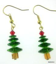 Christmas Tree Earring Kit- Fern Green & Topaz