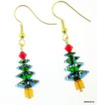 Christmas Tree Earring Kit- Vitrail Medium & Topaz