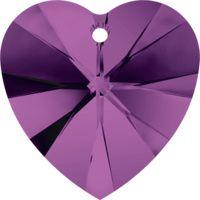 Swarovski Pendants Heart - 10mm Amethyst