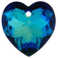 Swarovski Pendants Heart - 10mm Bermuda Blue