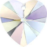 Swarovski Pendants Heart - 10mm Crystal AB