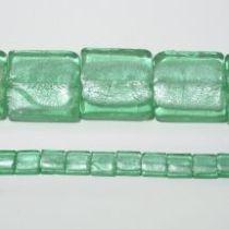 30 mm squares foil strand Light green(15 beads)
