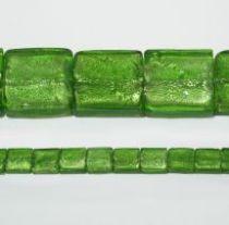 30 mm squares foil strand Peridot(15 beads)