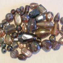 MIX GLASS BEADS TRANS- Purple