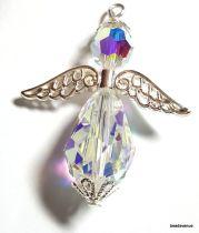 Angel Wing  Swarovski Pendant Kit- Crystal AB