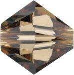 Swarovski Crystal Bicone 5328-4mm- Light Smokey Topaz