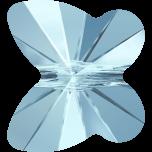 Swarovski Butterfly Beads - 10 mm Aqua